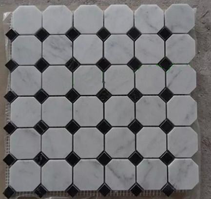 Cararra White Hexagon Marble mosaic