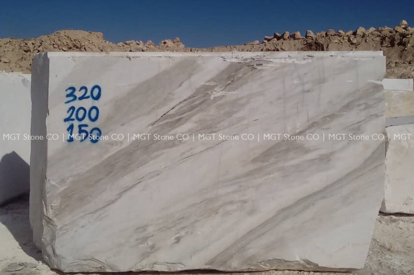 Ice White Marble Block