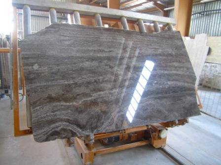 travertine grey slab