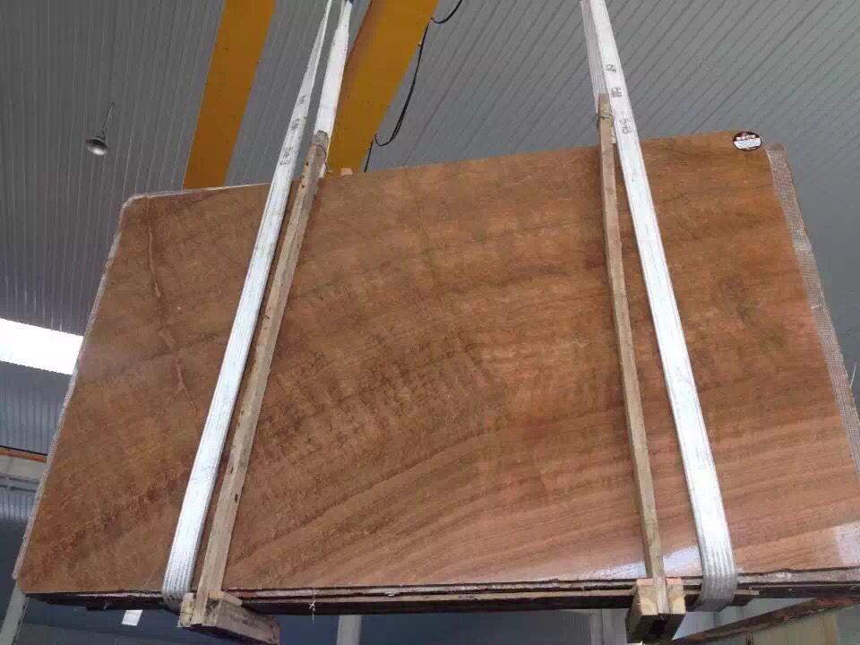 Imperial Wood Vein Brown Marble Slabs