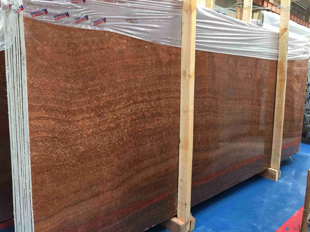 Imperial Wood Vein Marble Slabs Brown Texture Chinese Origin