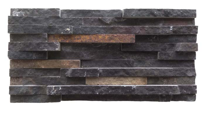 Black Slate Cultured Stone Ledge Stone Indonesia Black Java Slate Wall Panels