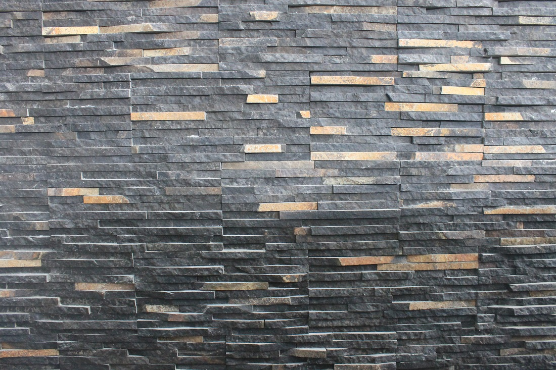 Indonesia Black Java Slate Mosaic Wall Panels