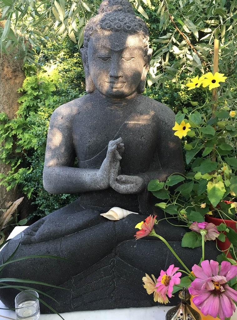 Indonesia Lavastone Buddha Sculpture
