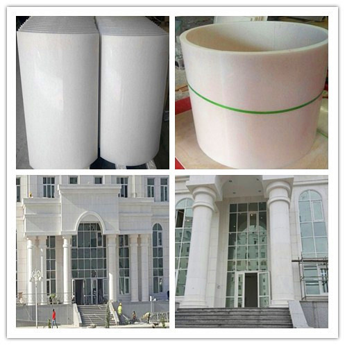 pure white marble column