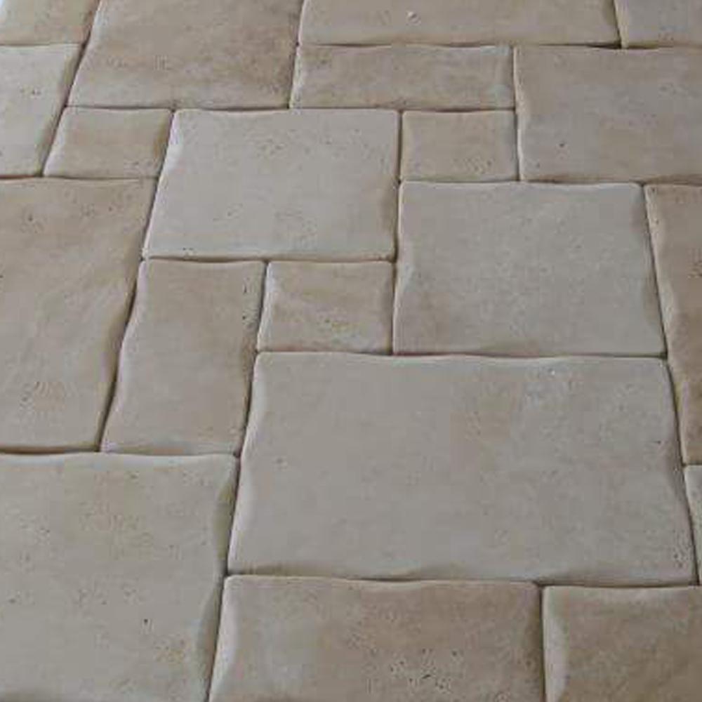 Turkish travertine pillowed edge pattern set tiles