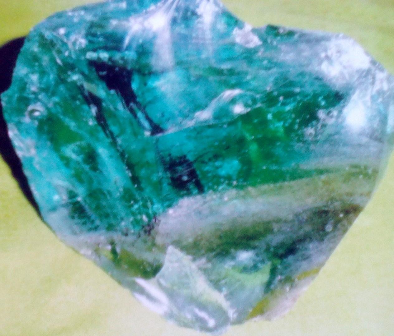 Volcanic glass varieties two specimens