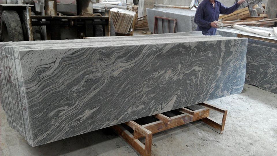 juparana grey wave sand granite slab