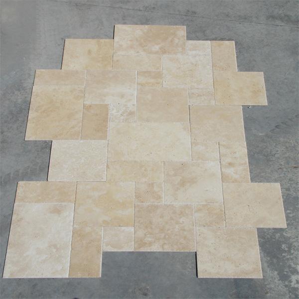 Extra Light Travertine Pattern Set Tile Chiseled E