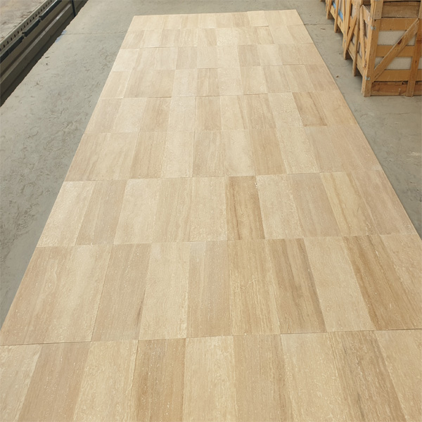 Light Travertine Vein Cut Tile