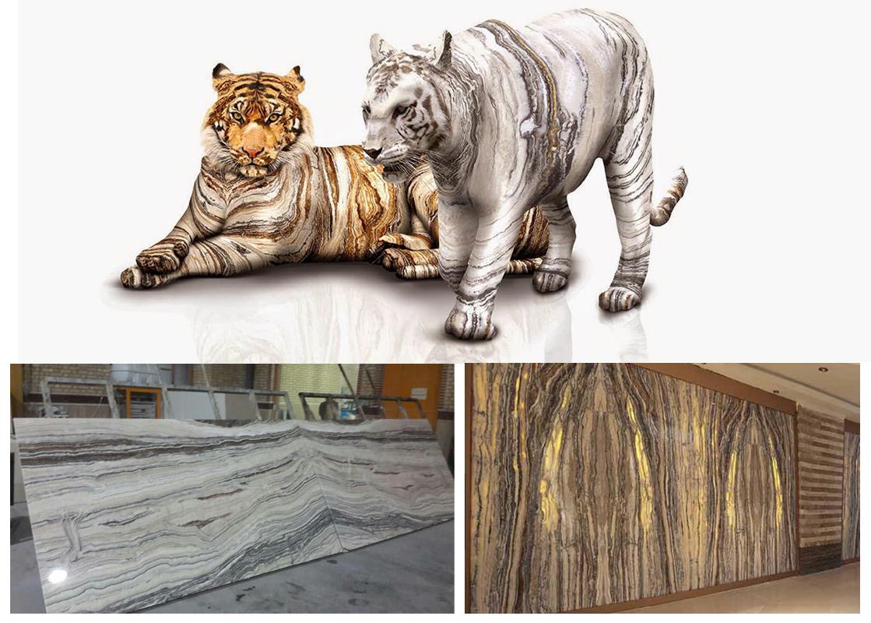 White Tiger Polished Slabs Iranian Traonyx Slabs