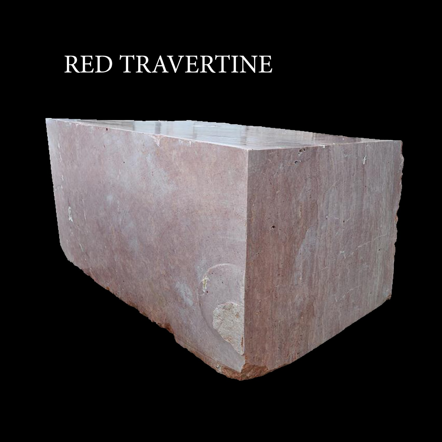 Red Travertine Blocks