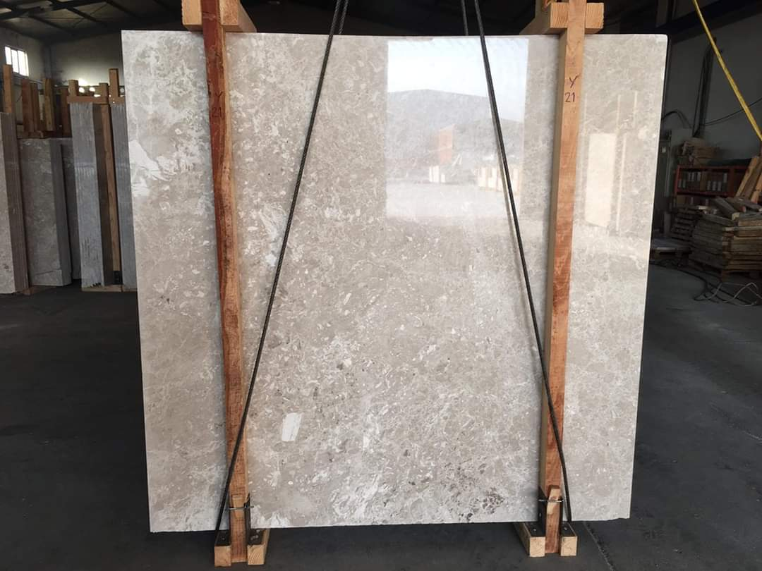 king beige marble slabs