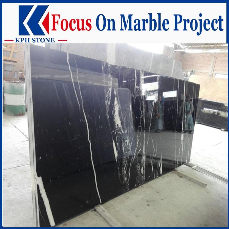 Nero Margiua Marble Polished Slabs
