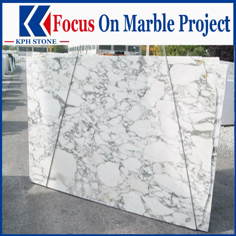 Arabescato Marble White Polished Marble Slabs