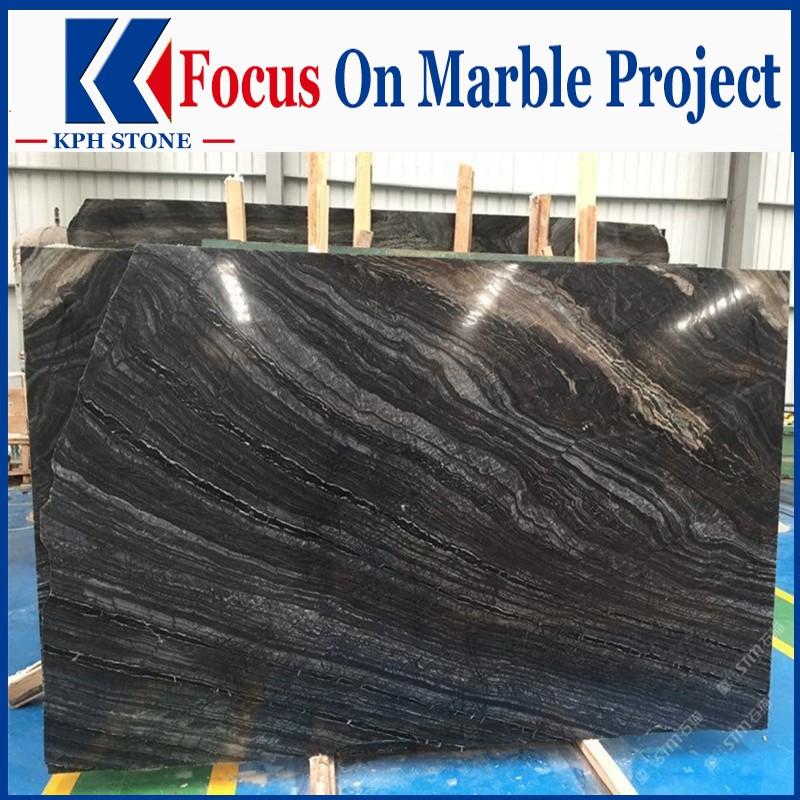 Ancient Wood Marble Black Marble Slabs