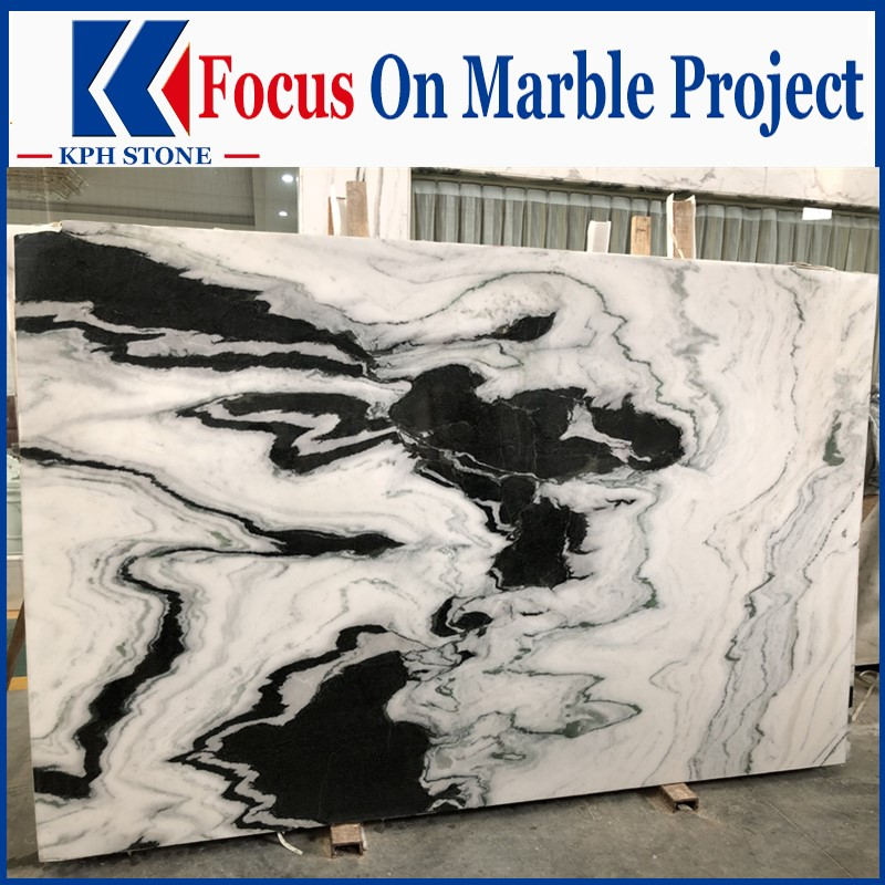 Panda White Marble Polished Slabs