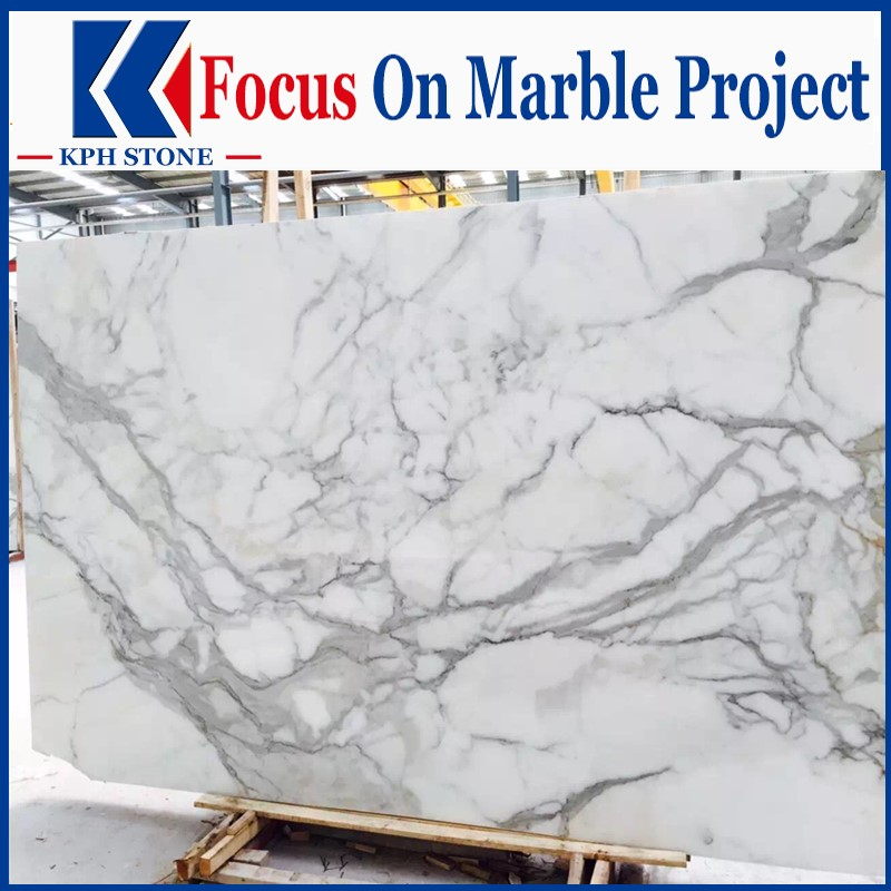 Statuario Bianco Marble Polished White Slabs
