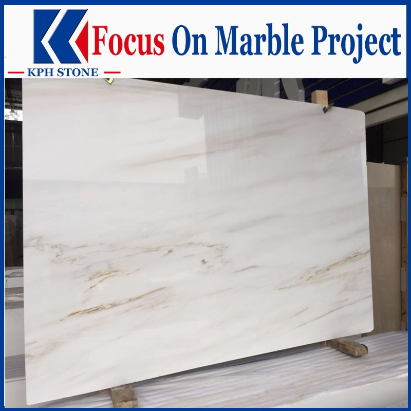 Elizabeth Marble Polished White Marble Slabs
