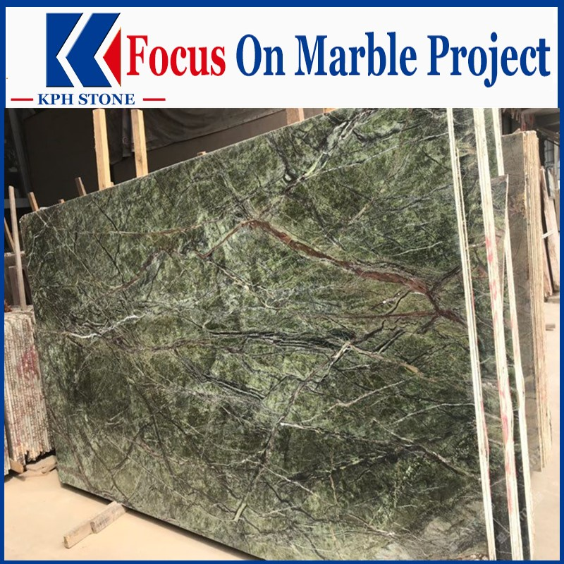 Rain Forest Green Light Marble
