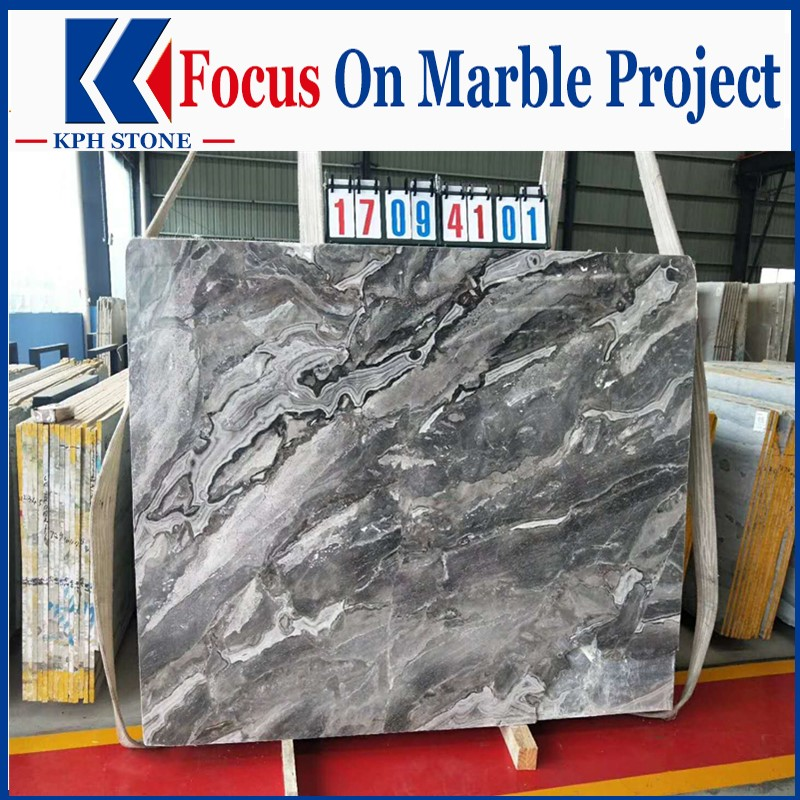 Fantasy Marble Polished Grey Slabs
