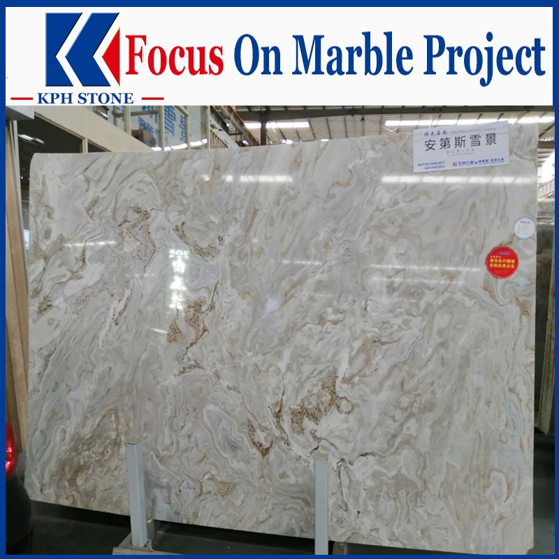 Andes snow landscape marble