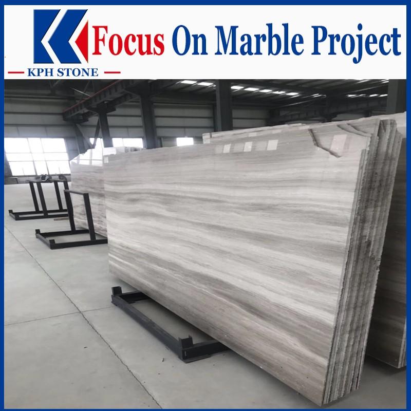 White wooden vein marble