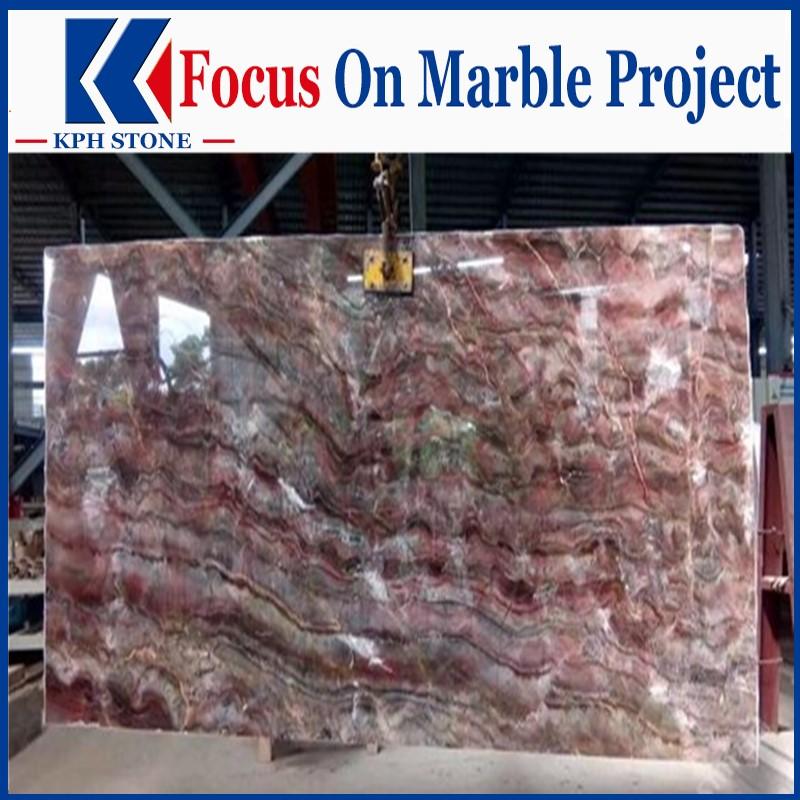 Louis Red Marble Slabs