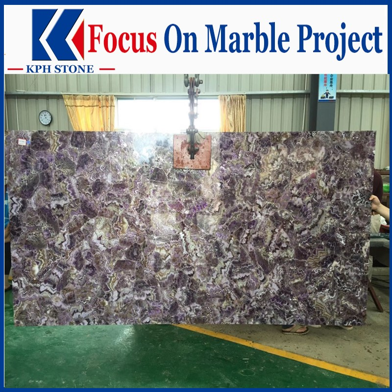 Violet Backlit agate Panel For Casios Decor