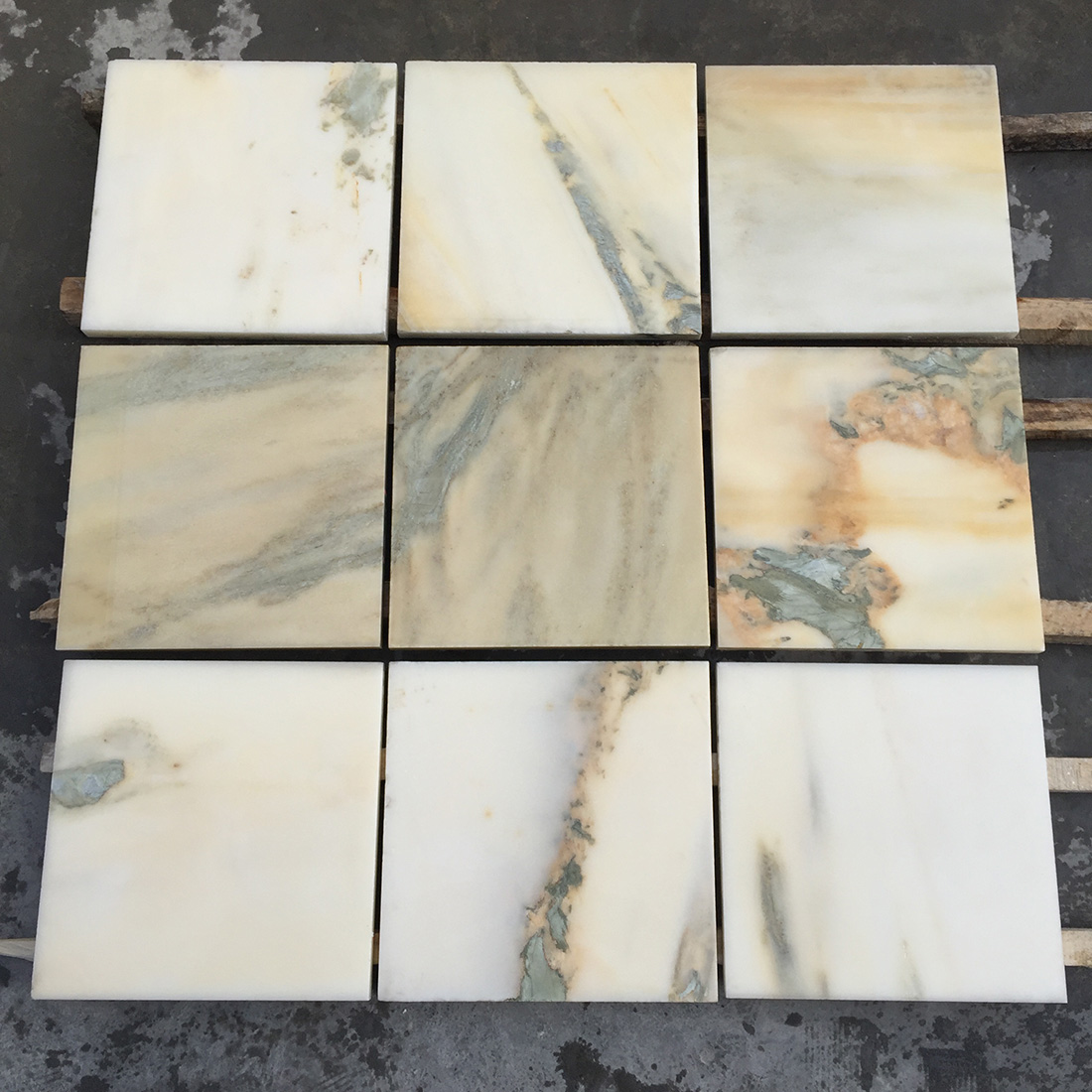 Multicolor Landscape Painting Marble Tiles For Project 30 30