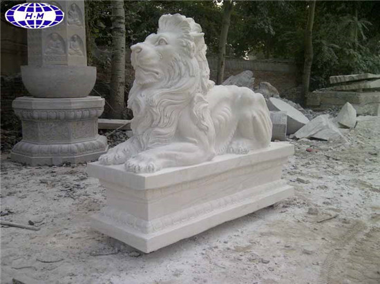 Chinese Marble Lion Statues