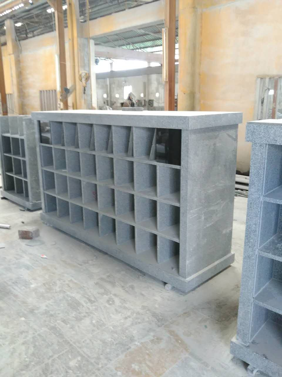 light grey G603 columbarium