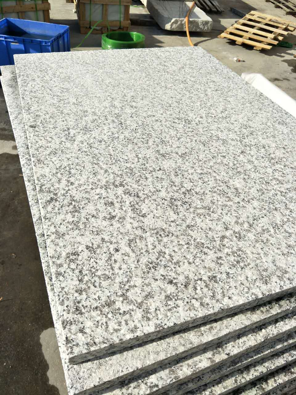 light grey G603 paving