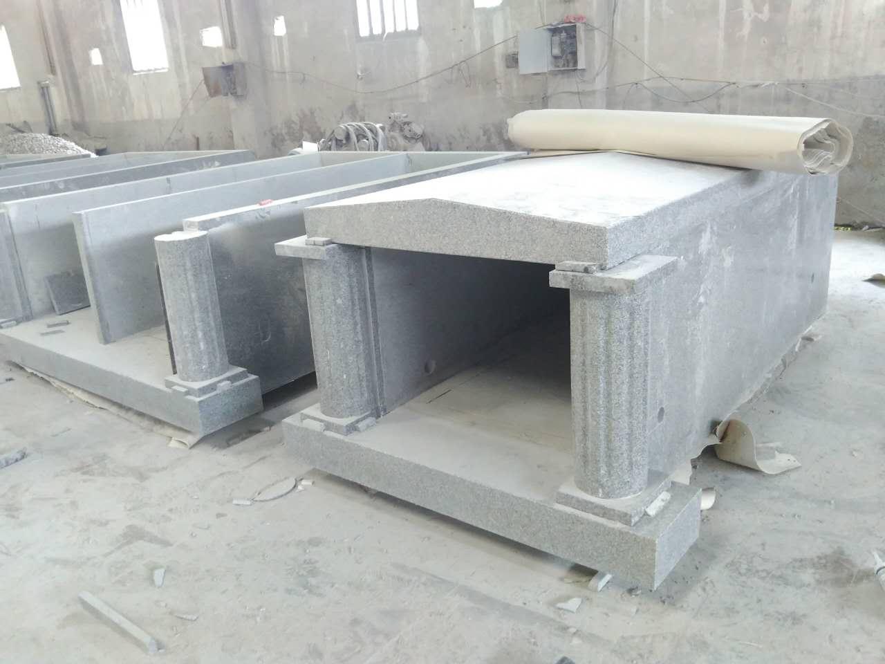 light grey G603 coffin