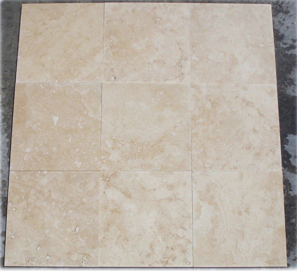 Turkish Ivory Travertine Tile Filled Honed