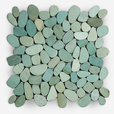 Pebbles Mosaic Tiles Green