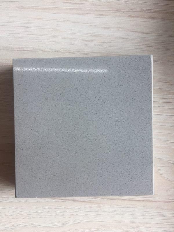 Pure light grey artificial quartz stone