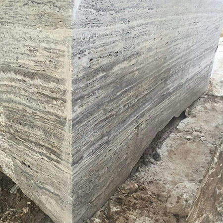 Silver Light Travertine Stone Blocks