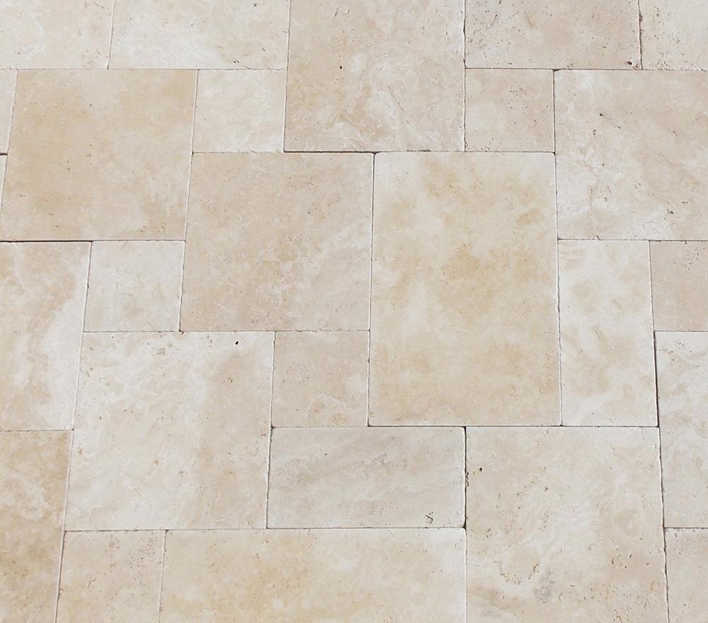 Ivory Travertine Tumbled Pattern Set