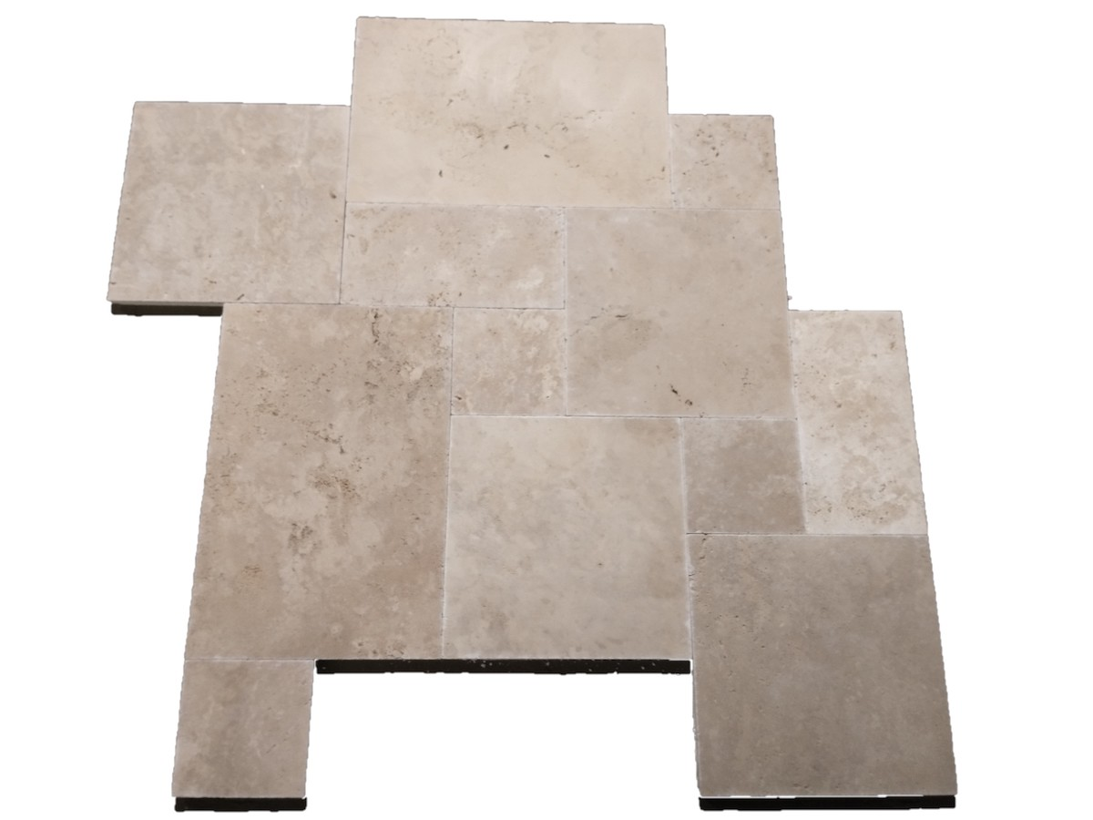 Light Mix Travertine French Pattern Set