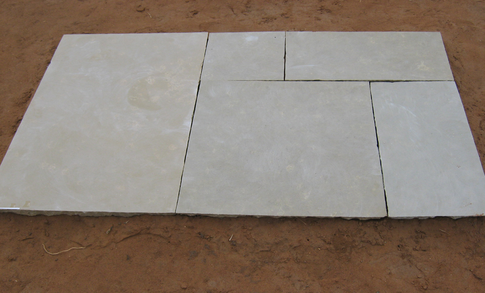 limestone yellow handcut honed Tiles