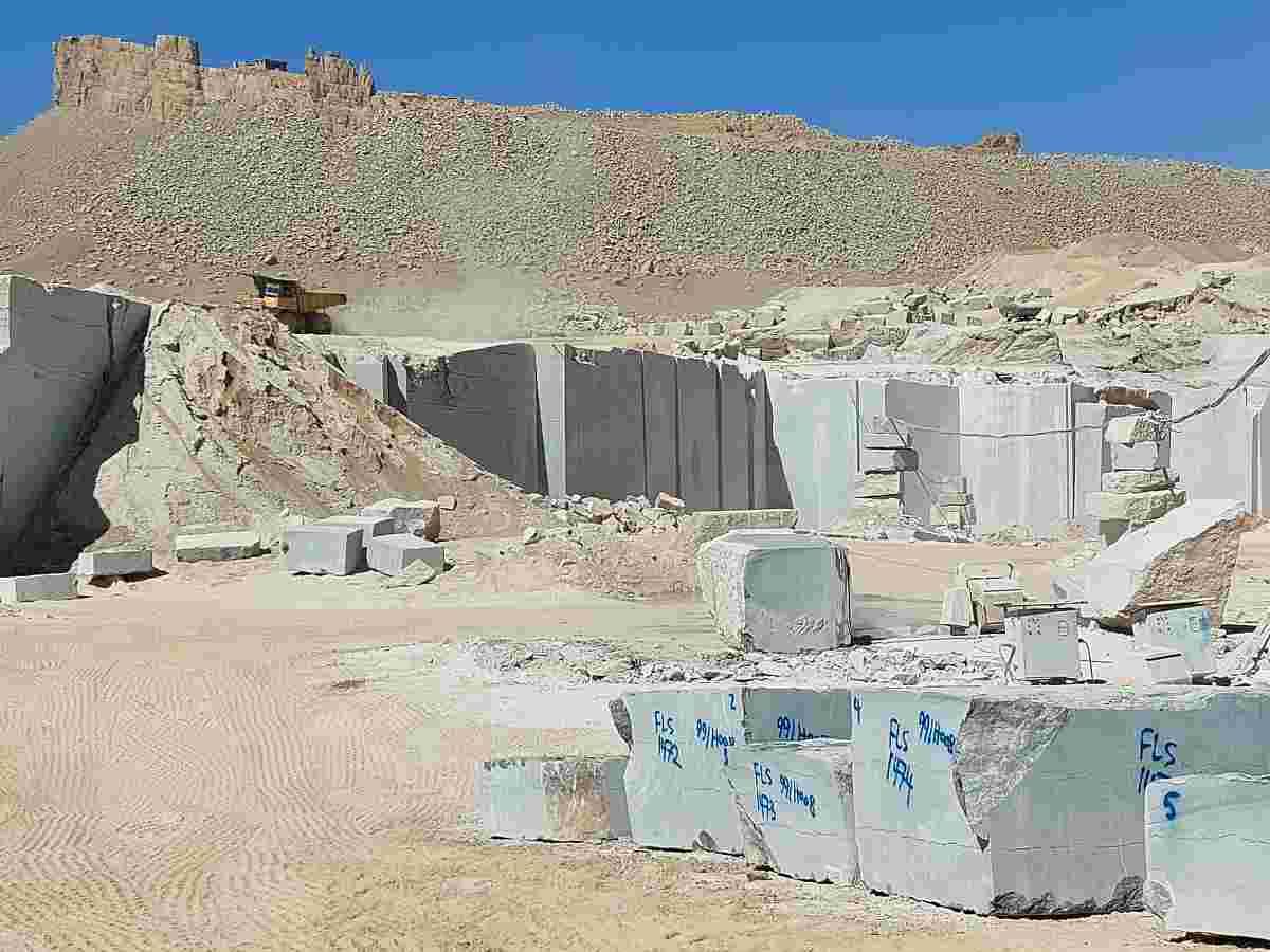 Petra Gray Marble Blocks