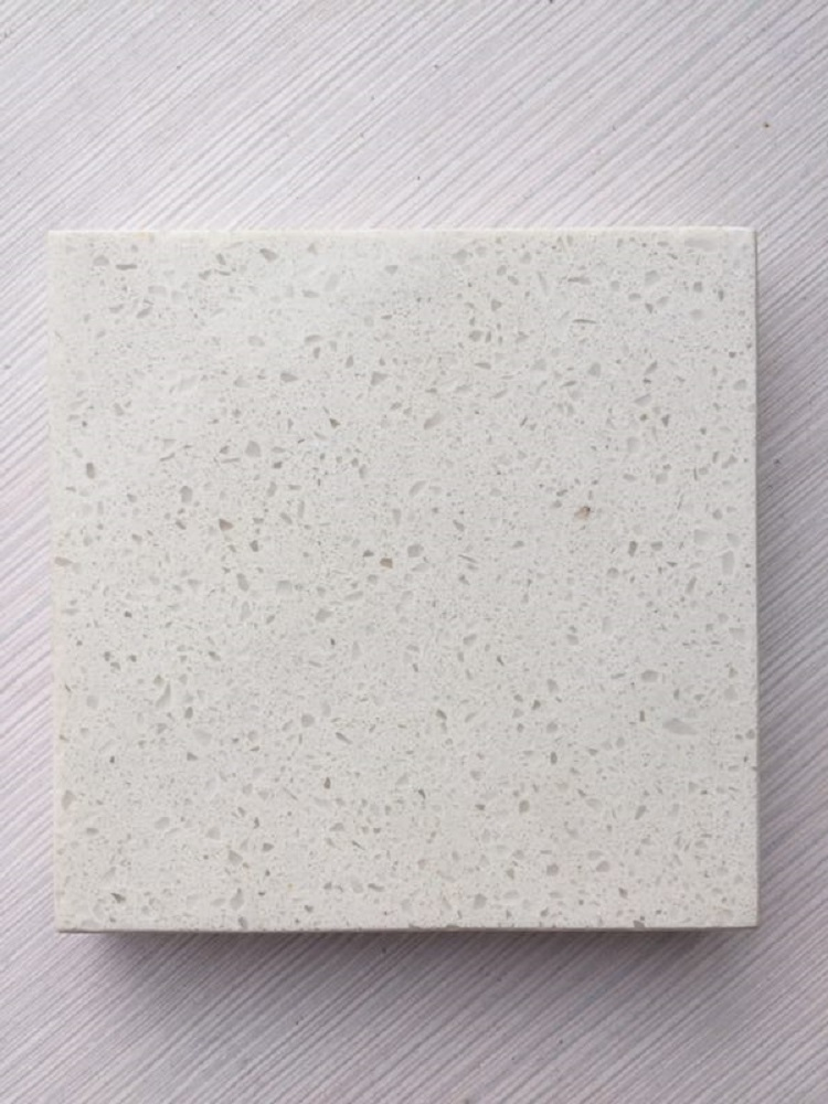 luna white quartz stone slab