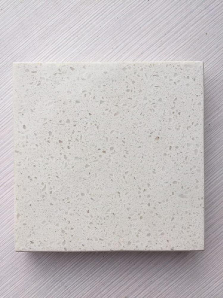 luna white quartz stone slab