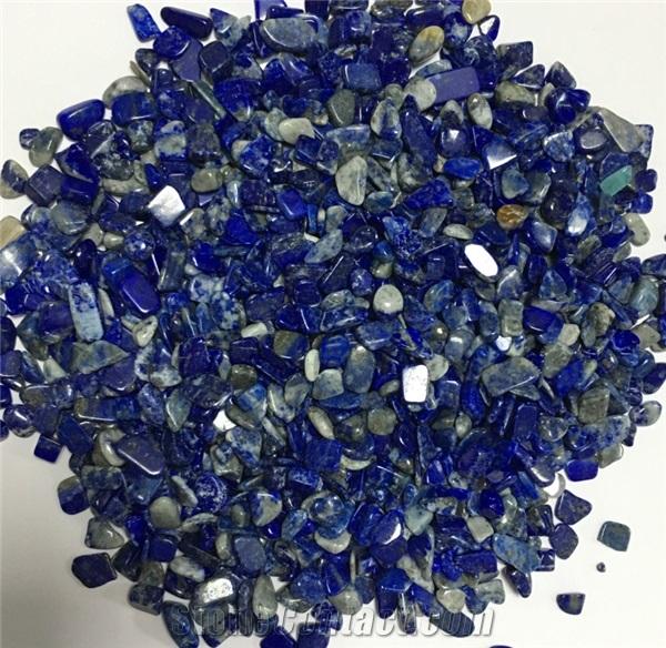 Luxury Natural Gemstones Lapis Lazuli Tumbles Blue Gravel and Pebbles Stone