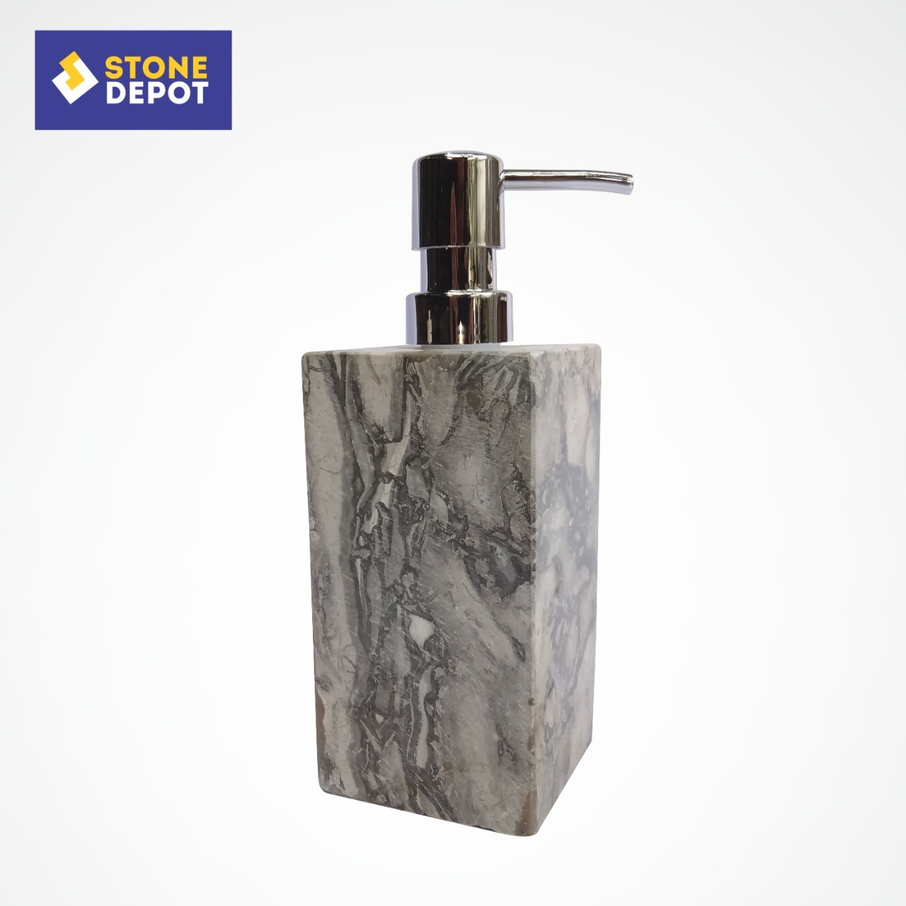 Bali Grey Marble Shampoo Dispenser