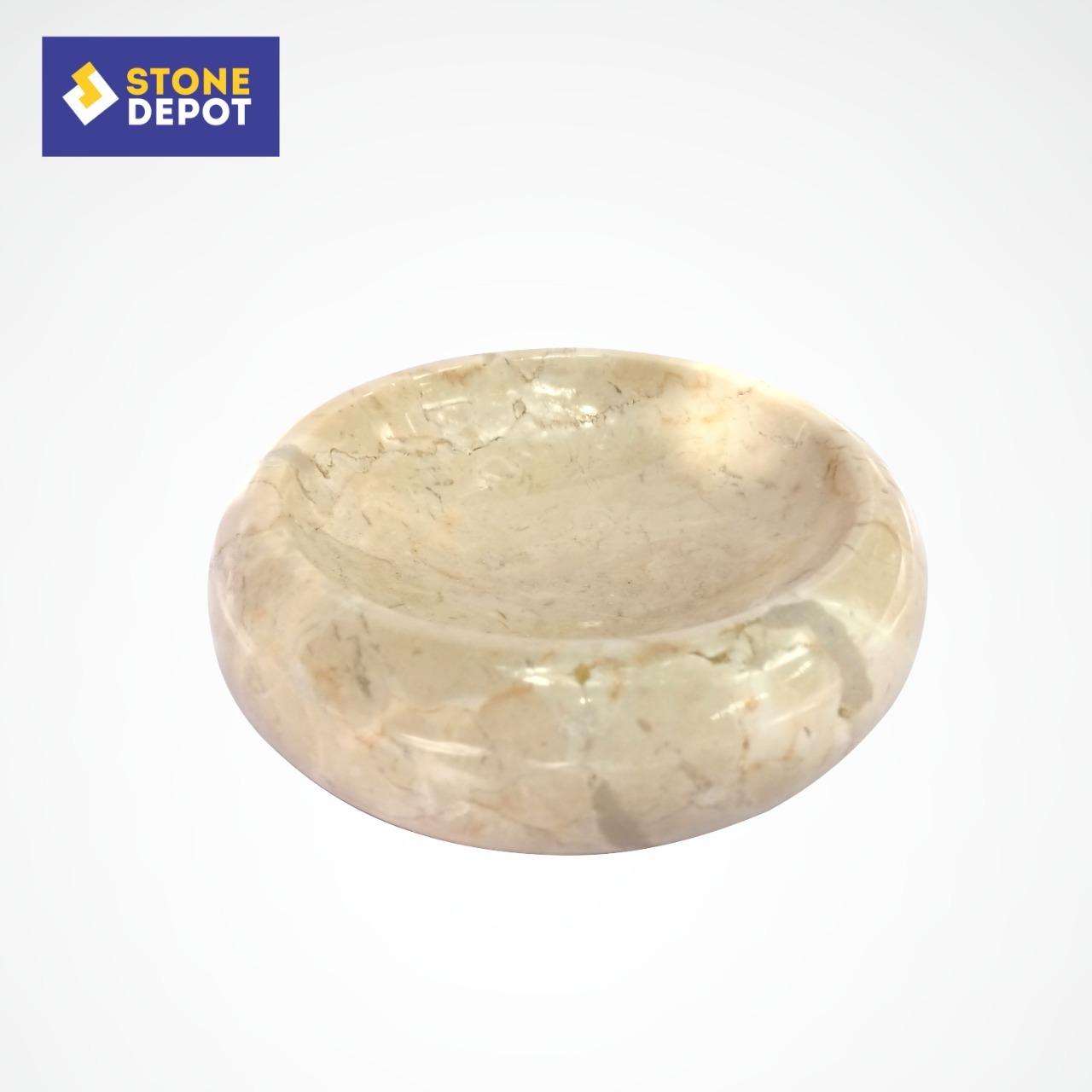 Bali Beige Marble Bathroom Stone Soap Dish