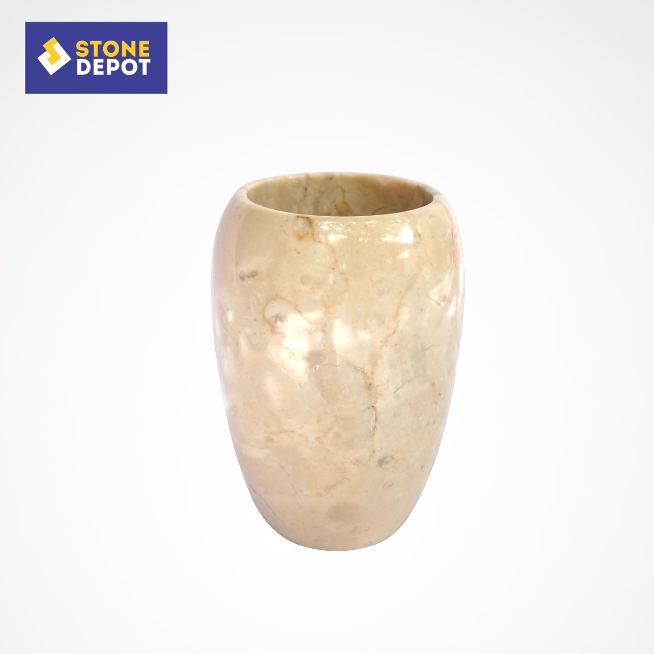 Bali Beige Marble Bathroom Toothbrush Toothpaste Holder