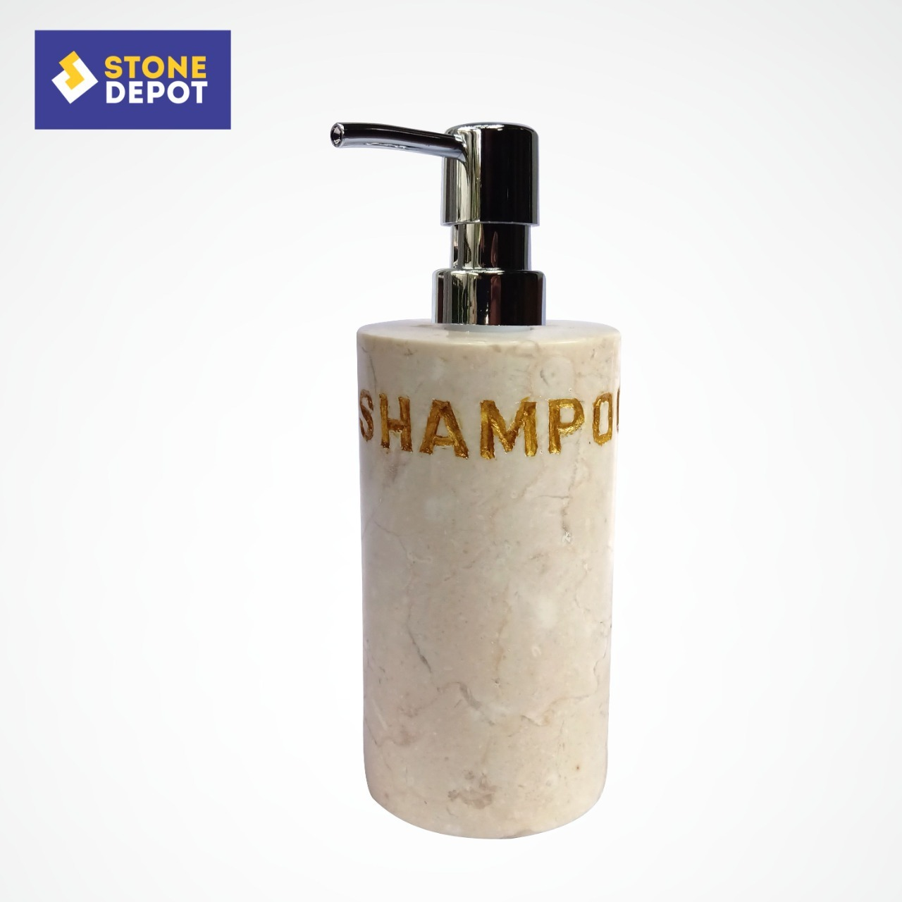 Bali Beige Marble Shampoo Dispenser 200 ml