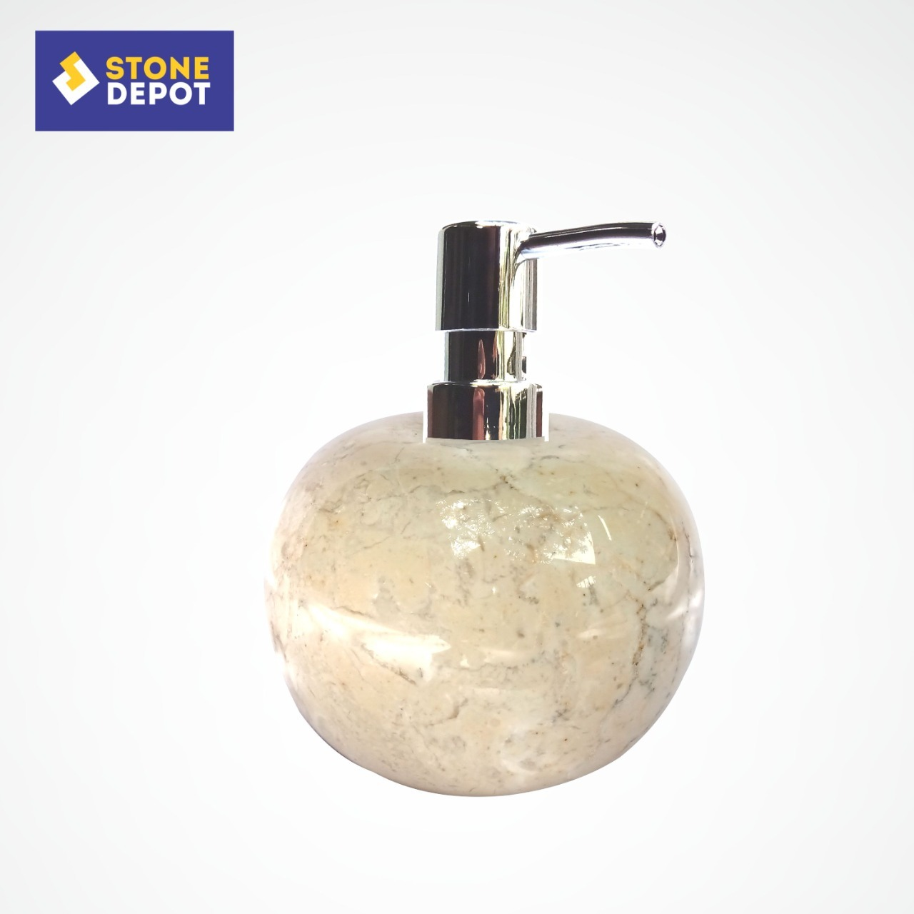 Bali Beige Marble Bathroom Stone Soap Dispenser